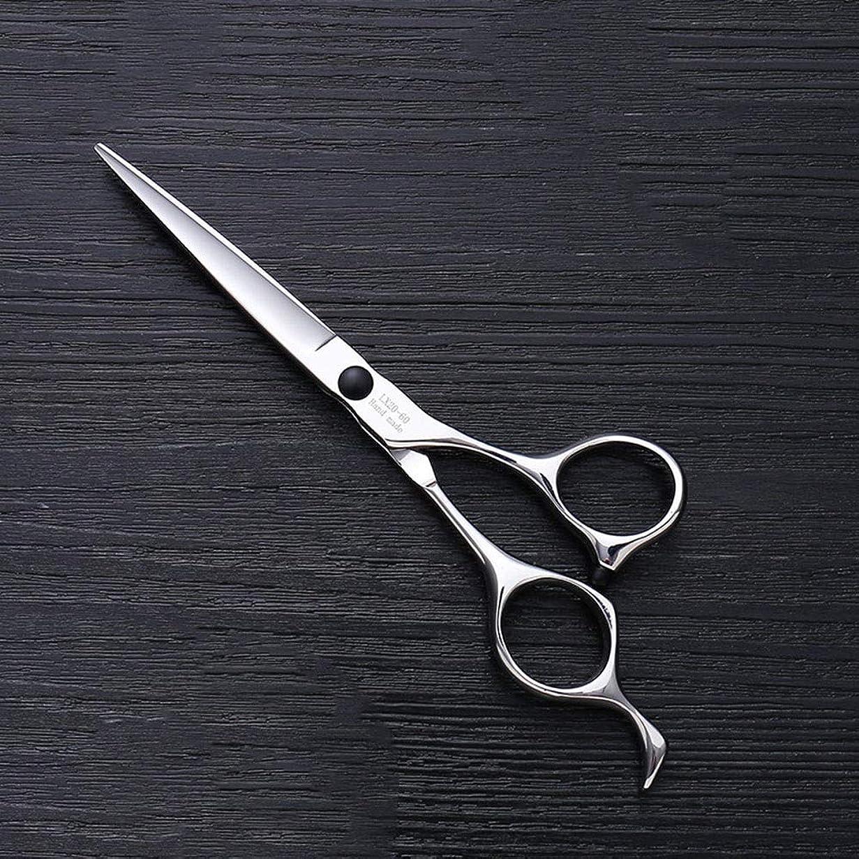 社交的洞窟アブセイ理髪用はさみ 6インチハイエンドステンレススチールバリカン、ヘアスタイリスト特別なヘアカットツールヘアカット鋏ステンレス理髪はさみ (色 : Silver)