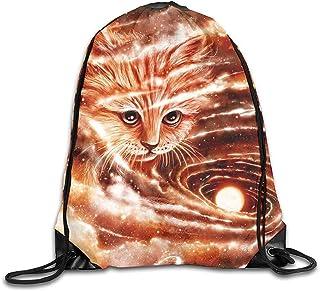 Mochilas De Cordones,Mochila De Alpinismo,Drawstring Bolsa De Gimnasio,The Space Visitor Cute Catsports Mochila Cinch,Bolso De Hombro Escolar,Bolsos De Viaje