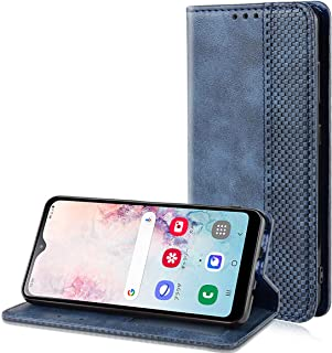Au Galaxy A20 SCV46 ケース 手帳型 NTTドコモ Samsung Galaxy A20 SCV46 カバー スタンド機能付き マグネット付き カード収納 高級PU合成レザー 耐衝撃 人気 おしゃれ シンプル かわいい 純色 Samsung Galaxy A20 SCV46 スマホケース ネービー