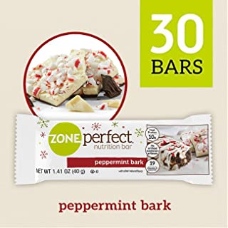 ZonePerfect Nutrition Snack Bars, 10g Protein, Limited Edition Peppermint Bark, 1.41 oz, (30-count)
