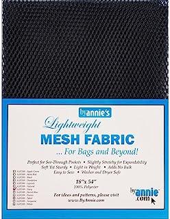 Annie SUP209-NAVY Lightweight Navy Mesh Fabric LTWT 18x54, 54 Inches