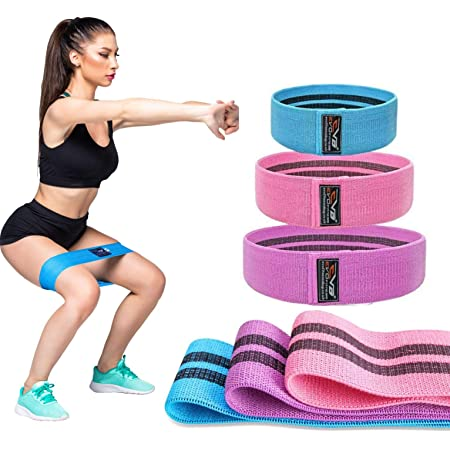 Max Ladies Fabric Resistance Bands Elastic Exercise /& Expanders HIP CIRCLE Glute