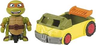 Teenage Mutant Ninja Turtles T-Sprints Mad Motion Michelangelo with Party Van Basic Figure