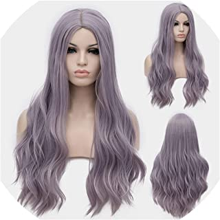 Cosplay Long Wavy Full Synthetic Wigs Hair Wig With Cap 25 Colors Halloween Gift,24,28Inches