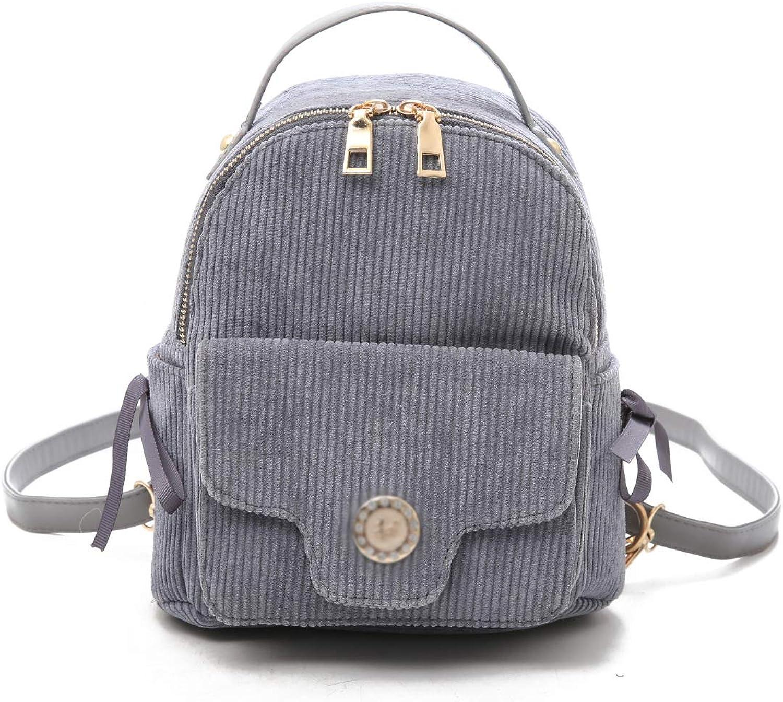 Backpack Simple Small Fresh Art Travel Backpack Korean Version The Threecolor Shoulder Slung Small Bag,B