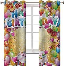 Rideaux occultants pour chambre à coucher, traitement de fenêtre, isolation thermique, anniversaire, ballons vifs, cupcak...