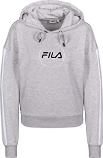 FILA Women's Riva Long Sleeve Hoodie Sweatshirt, (Light Melange Bros), Medium