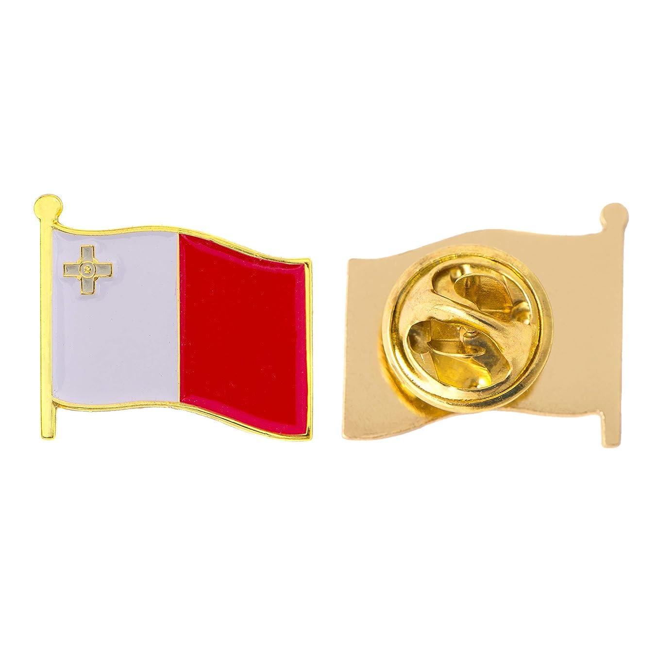 Malta Country Flag Lapel Pin Enamel Made of Metal Souvenir Hat Men Women Patriotic (Waving Flag Lapel Pin)