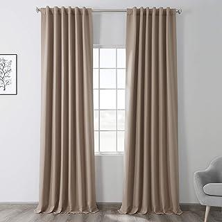 HPD Half Price Drapes BOCH-171316-84 Blackout Room Darkening Curtain (1 Panel), 50 X 84, Banyan Brown