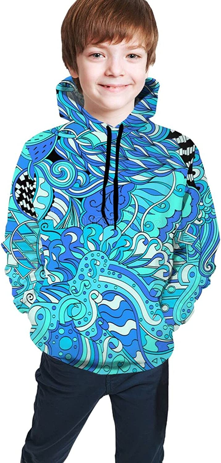 Kimisoy Industry No. 1 Kids Hoodie Ethnic Ornament Comfy Colorful Hooded Max 66% OFF Sweats
