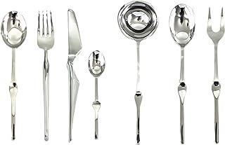 Mepra 132228051 Set, [51 Piece, Stainless Steel Finish, Dishwasher Safe Cutlery