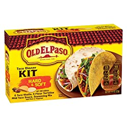 Old El Paso Taco Dinner Kit, Hard & Soft, 11.4 oz Box