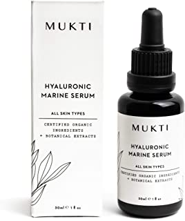 MUKTI - Organic Hyaluronic Marine Serum | Clean, Non-Toxic, Natural Skincare (1 fl oz | 30 ml)