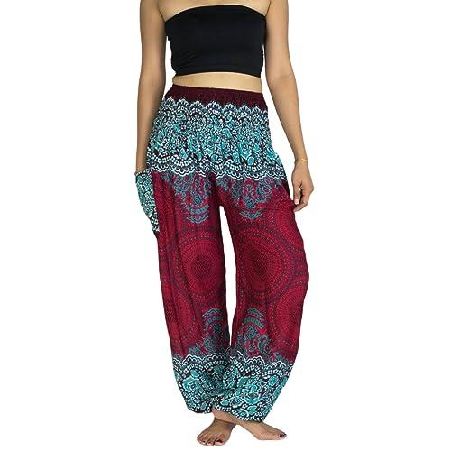 ce49011dbac Lanna Thai Harem Trousers with Smock Waist and Bohemian Style