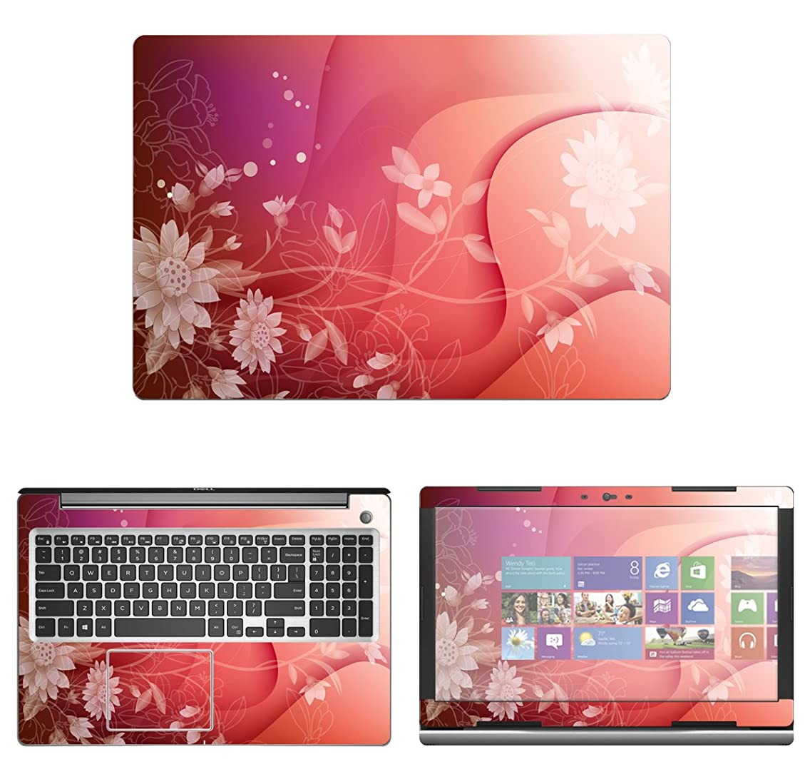 decalrus - Protective Decal Floral Skin Sticker for Dell Inspiron 15 i5570 / 5570 (15.6