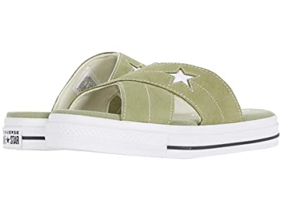 Converse One Star Sandal Slip (Street Sage/Black/White) Women