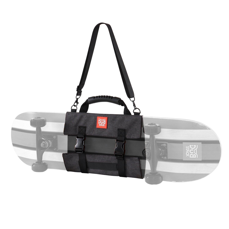 DUB STACK(ダブスタック) スケートボードサコッシュバッグ 3WAY ショルダー/クラッチ/手持ちスタイル 小物ポケット内蔵ポーチ 対応デッキ幅8インチ(20.3cm)迄 DSA-16