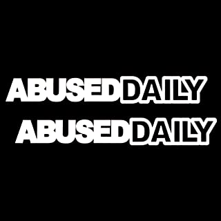 iJDMTOY (2 JDM AbuseDaily Abuse Daily Die-Cast Vinyl Decals, Funny Style JDM Stickers Compatible With Car Windshield, Side Windows, Bumpers, etc