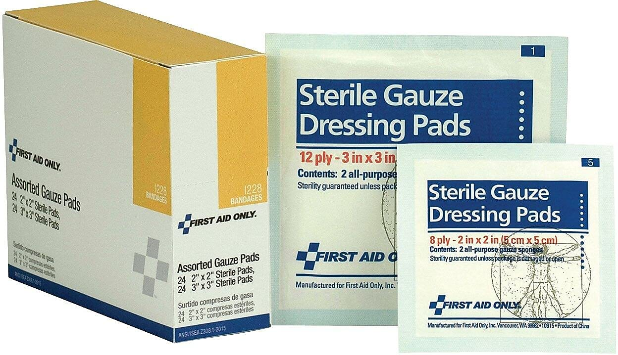 First Aid Excellence Only shopping Dressing Pad Gauze 48 3