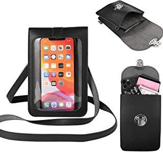 Women Touch Screen Cell Phone Purse Pouch Wallet Small Travel PU Leather Crossbody Shoulder Bag for Motorola Moto G8 Plus ...