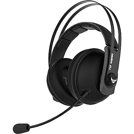 ASUS TUF Gaming H7 Wireless Cuffie su PC e PS4, Audio virtuale 7.1 integrato, Robusta fascia in acciaio, Nero