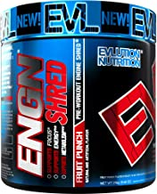 Evlution Nutrition ENGN Shred Pre Workout Thermogenic Fat Burner Powder Energy Weight Loss 30 Servings Fruit Punch Estimated Price : £ 27,49