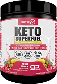 Keto AF Superfuel - Exogenous Ketones & Caffeine. BHB Salts and C8 Triglycerides (MCT Oil). Increase Performance, Get Into...