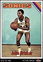 1975 Topps # 149 John Brisker Seattle Supersonics (Basketball Card) Dean's Cards 7 - NM Supersonics