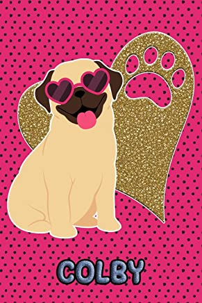 Pug Life Colby: College Ruled | Composition Book | Diary | Lined Journal | Green