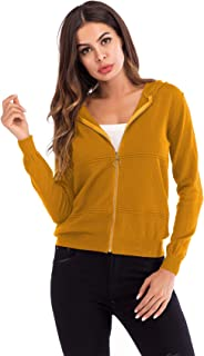 Manga Larga Sudadera con Capucha Hoodie Cremallera Delantera Knitwear Cárdigan Suéter Sweater Coat Capa Abrigo Jacket Caza...