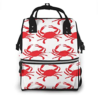 Crab Multi-Function Travel Backpack Nappy Bag,Fashion Mummy Bag