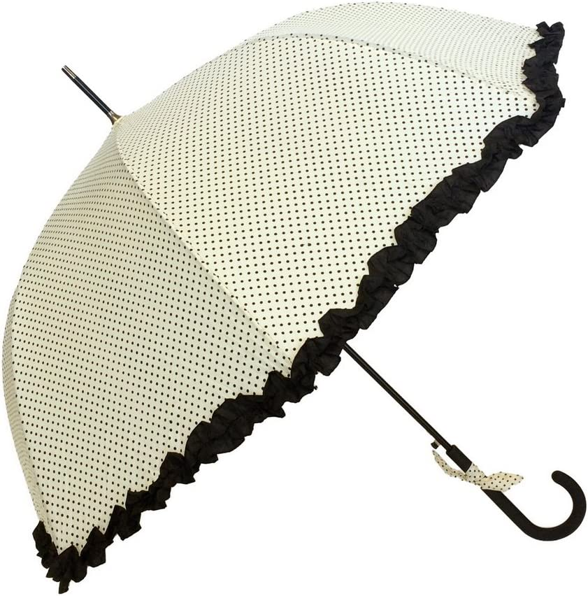 Topics on TV SMATI Stick Umbrella Charlotte Mall with Design SOLID Be Ruffles - windproof