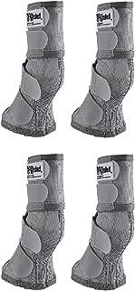 Cashel Crusader Horse Fly Protection Leg Guards, Set of Four, Grey, Warmblood
