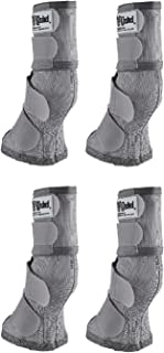 Cashel Crusader Horse Fly Protection Leg Guards, Set of Four, Grey, Horse