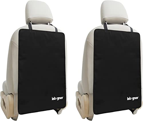 new arrival Car Seat Back Protectors by new arrival Lebogner - Luxury Kick Mat Seat Covers for The Back of Your Front Seats 2 Pack, X-Large Auto Back outlet online sale Seat Protector Covers, Perfect Backseat Child Kick Guard Seat Saver outlet online sale
