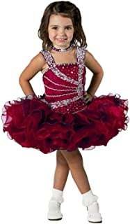 Baby Girls' Sequins Toddler Beads Mini Cupcake Pageant Dress