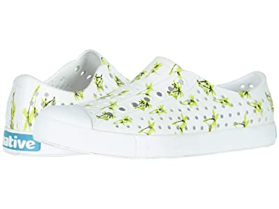 Native Shoes Jefferson Print (Shell White/Shell White/Palm Tree Print) Athletic Shoes