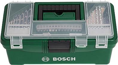 Bosch 73 parçalı DIY başlangıç kutusu seti (ahşap, taş ve metal, ev işleri, delme ve vidalama aletleri)