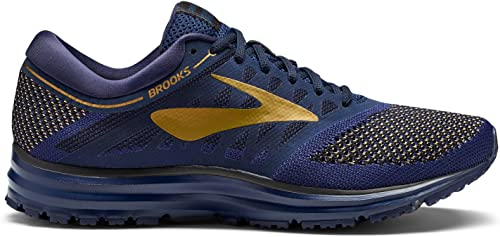Brooks Men's Revel Navy oro negro 14 D US