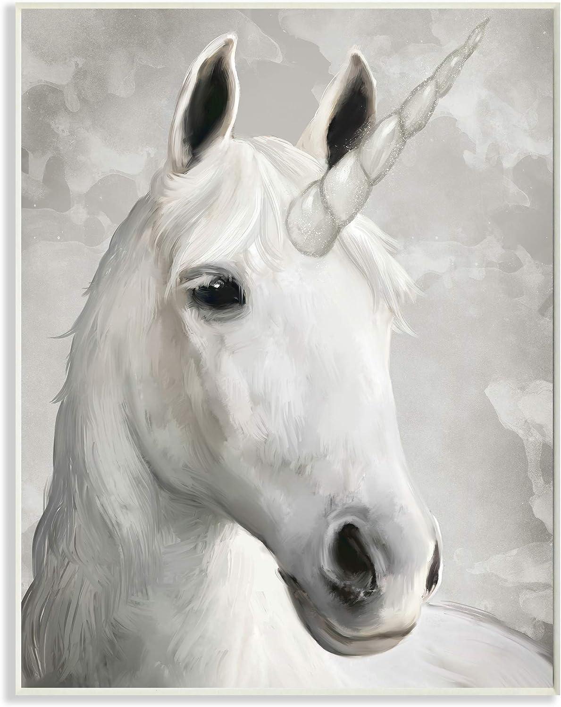 Stupell Industries Majestic White Unicorn Wild Mythical Animal 10 x 15 Designed by Ziwei Li Wall Plaque