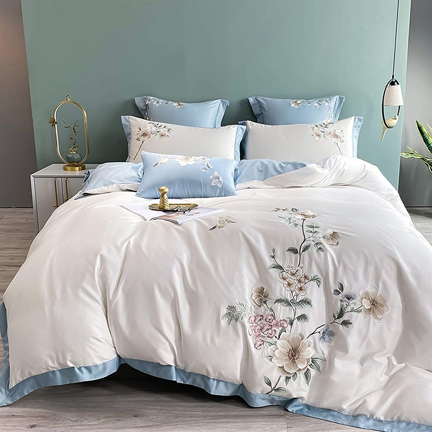 Luxury Brand new 600TC Egyptian Cotton Queen King C 4 Ranking TOP7 Set Bedding 7pcs Bed