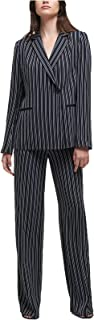DKNY Women's Asymmetrical Striped Blazer