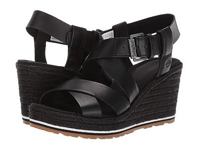Timberland Nice Coast Ankle Strap Sandal (Black Full Grain) Women