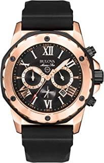 Bulova Mens 44mm Marine Star Silicone Strap Watch