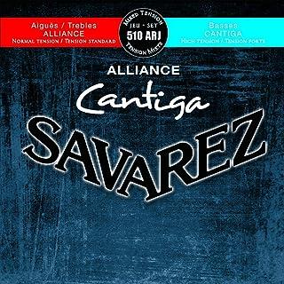 Savarez Cuerdas para Guitarra Clásica Alliance Cantiga juego 510ARJ Tensión mezclada azul-rojo, Savarez Cuerdas agudas normal, Savarez Cuerdas graves alta