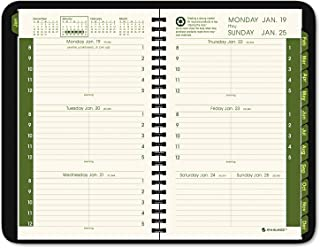 AT-A-GLANCE 70100G0509 Recycled Weekly/Monthly Appointment Book, Black, 4 7/8