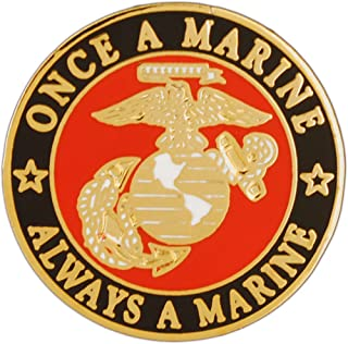 USMC Once A Marine Always A Marine Pin Military Collectibles for Men Women, Small