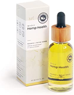 Whole Hemp Health | Facial Serum for All Skin Types | Organic Hemp Oil, Rosehip Seed Oil, Cypress Essential Oil, Argan, Ca...