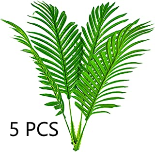 5 Pack Faux Fake Tropical Large Palm Leaves Artificial Palm Plants Leaves Imitation Leaf Artificial Plants for Home Party Wedding Decorations