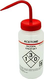 ターソンズ 薬品識別洗浄瓶 LDPE製/蓋:PP製 500ml アセトン(Acetone) 562010